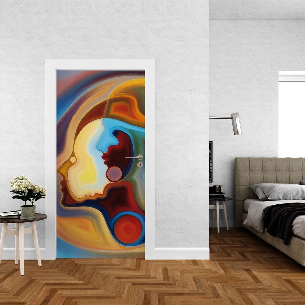 Αυτοκόλλητο πόρτας - Abstract 03