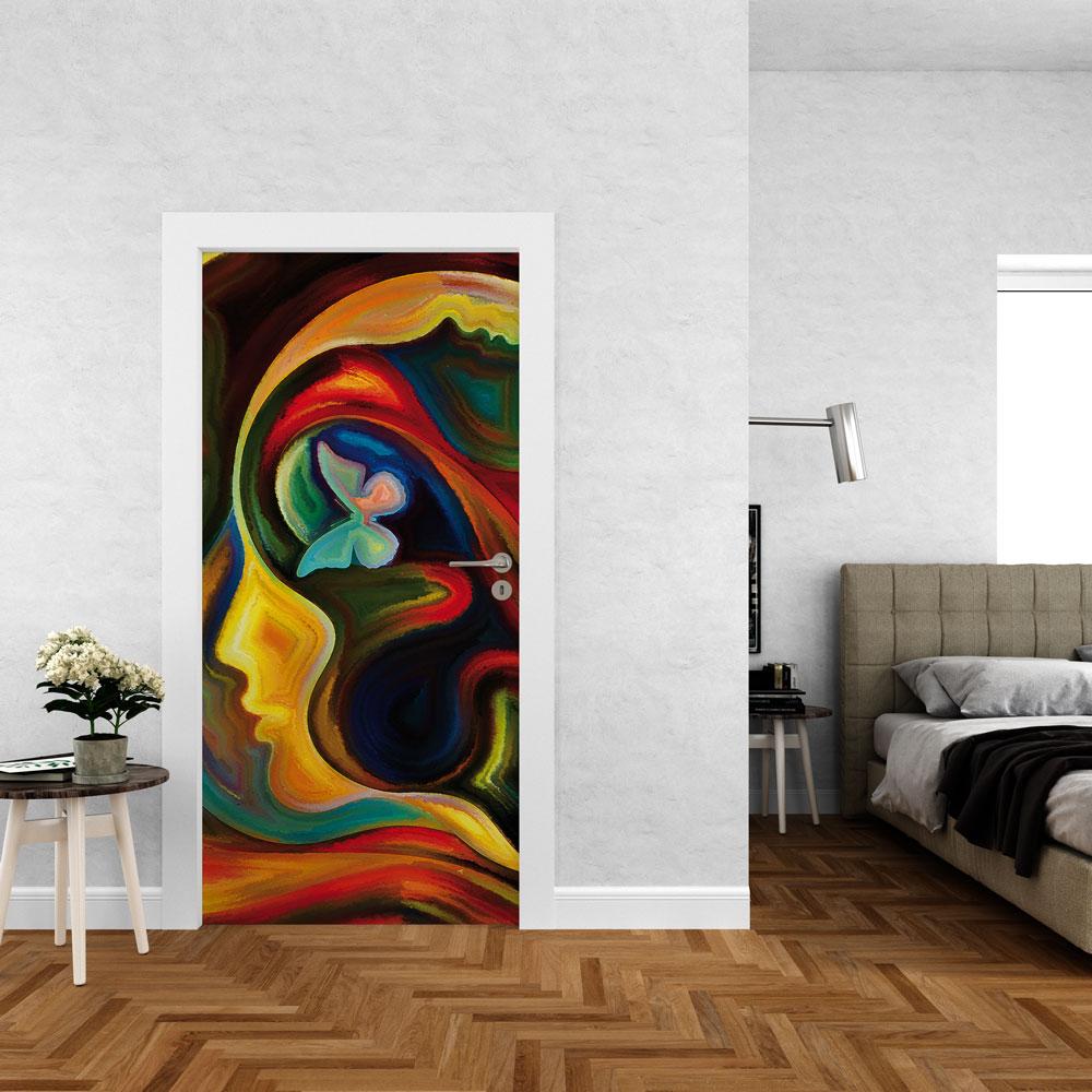 Αυτοκόλλητο πόρτας - Abstract 06