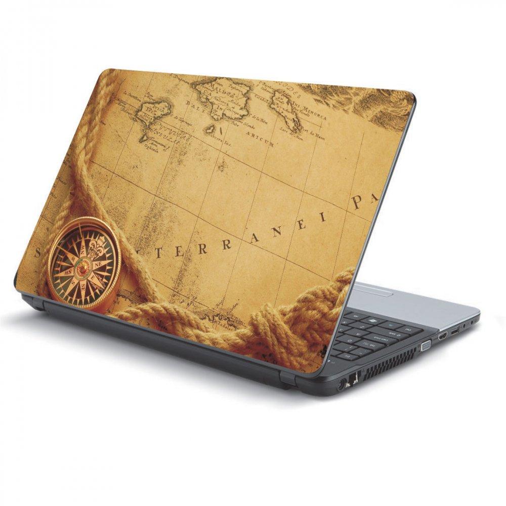 Αυτοκόλλητο Laptop - Old map