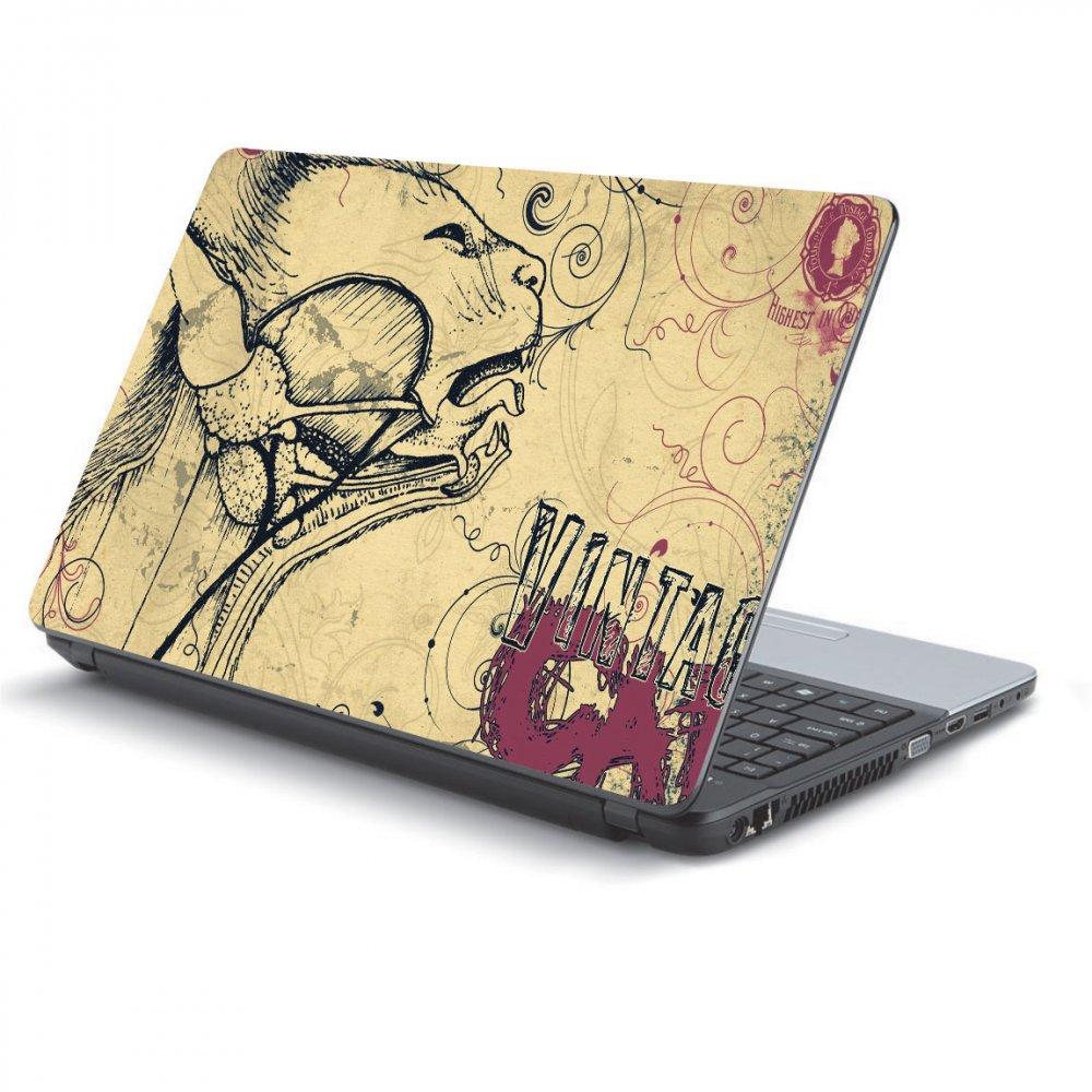 Αυτοκόλλητο Laptop - Vintage cat