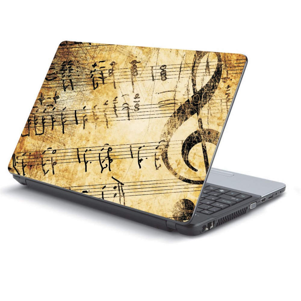 Αυτοκόλλητο Laptop - Vintage music notes