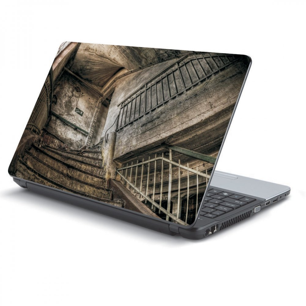 Αυτοκόλλητο Laptop - Old stairs