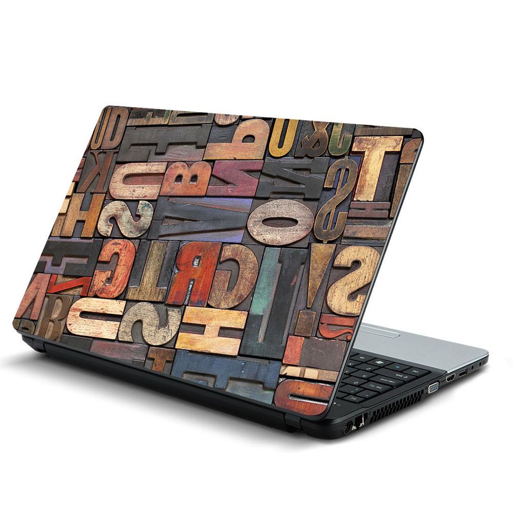 Αυτοκόλλητο Laptop - Γράμματα 03