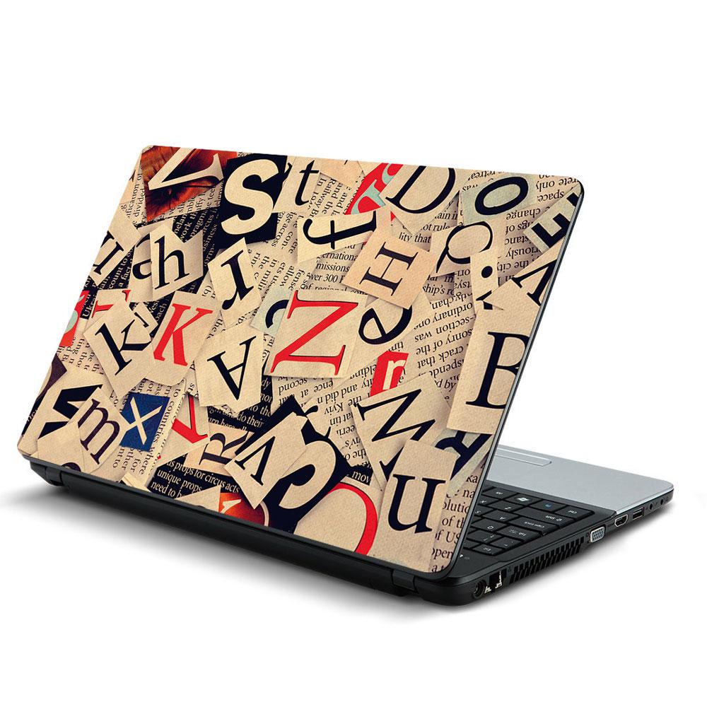 Αυτοκόλλητο Laptop - Γράμματα 04
