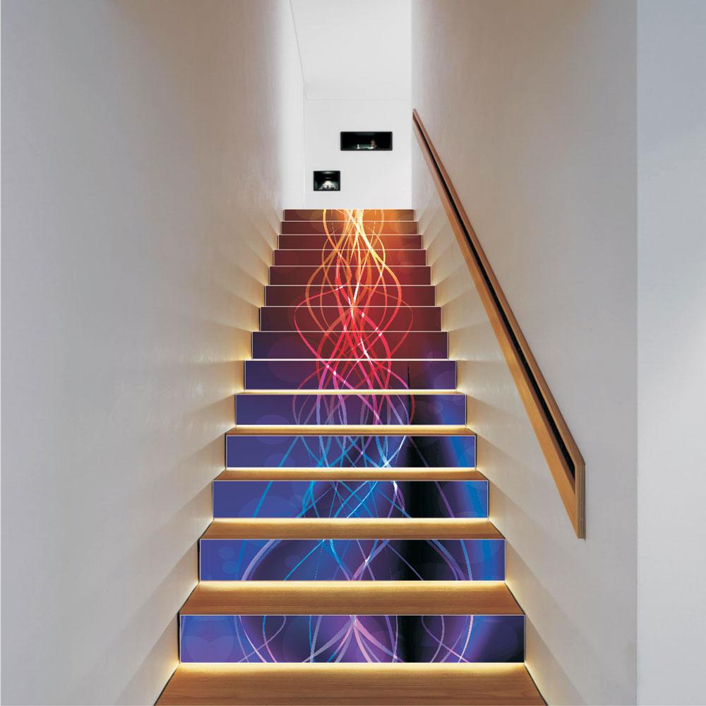 Αυτοκόλλητο σκάλας - Colored rays