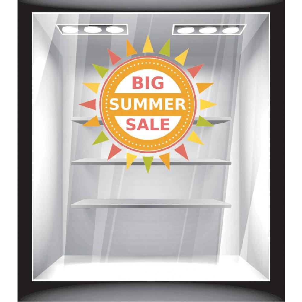 Αυτοκόλλητο εκπτώσεων - Big summer sale