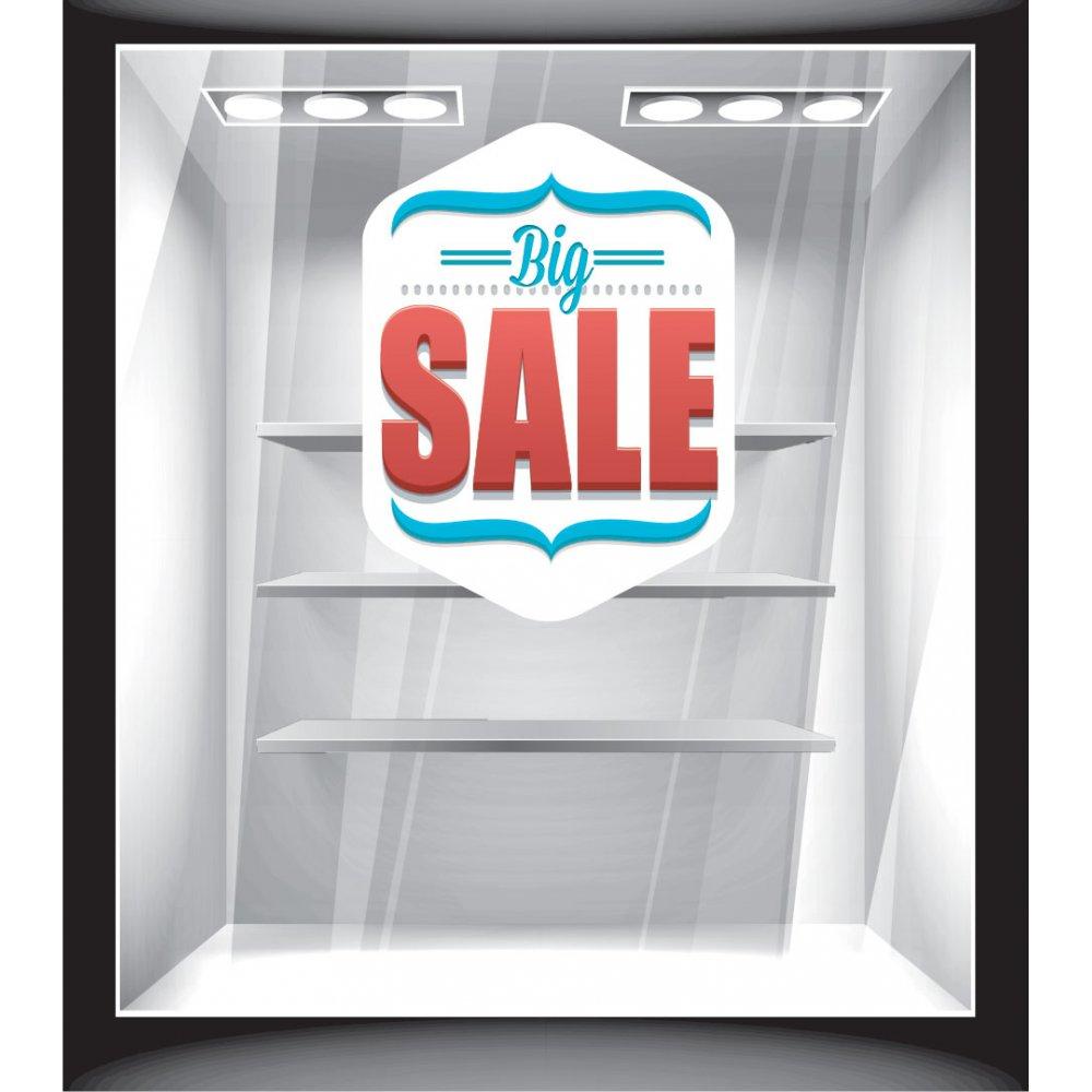 Αυτοκόλλητο Εκπτώσεων - Big sale άσπρο
