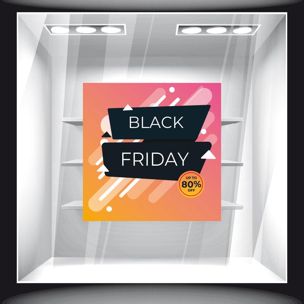 Αυτοκόλλητο Εκπτώσεων - Black Friday 64