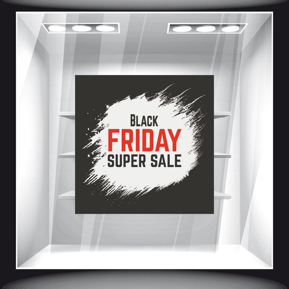 Αυτοκόλλητο Εκπτώσεων - Black Friday 81