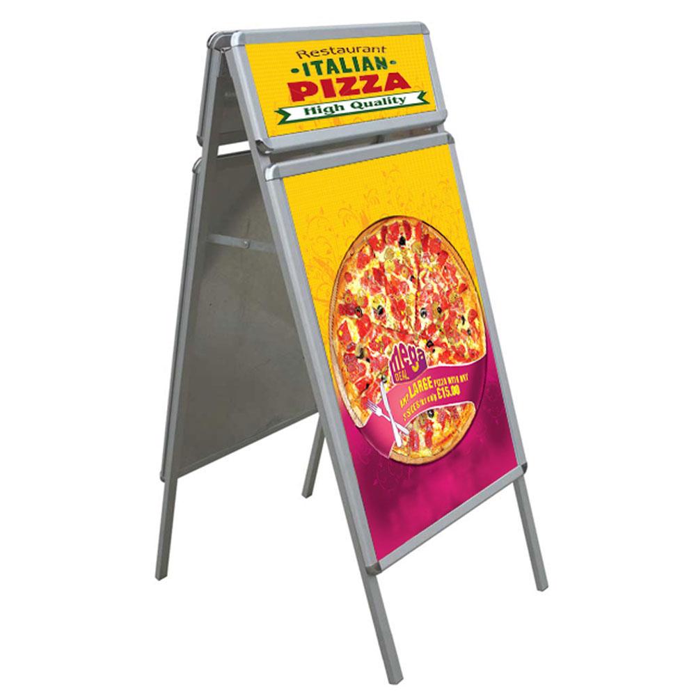 A-Board stand πεζοδρομίου με 4 εκτυπώσεις (2 μεγάλες και 2 μικρές)