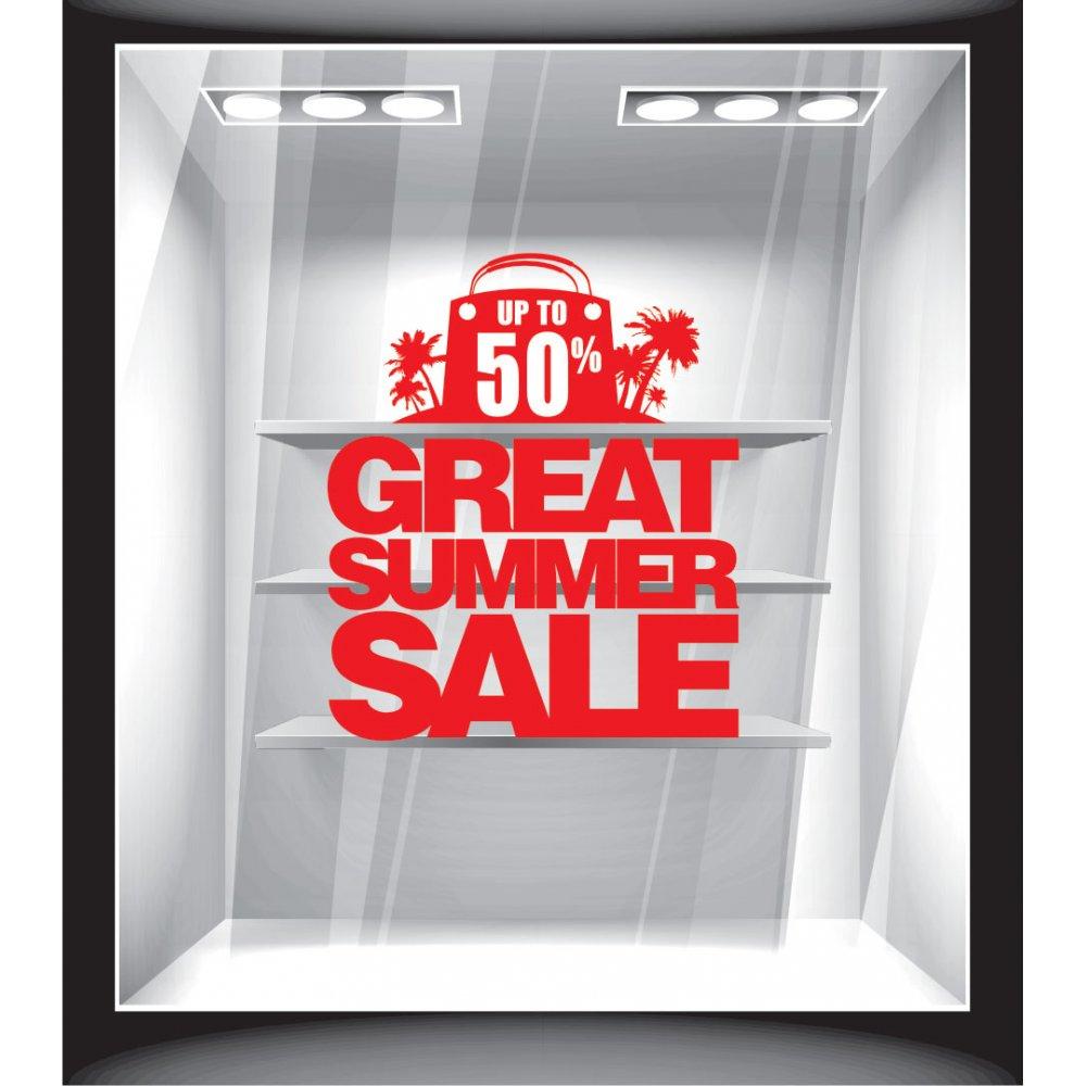 Αυτοκόλλητο εκπτώσεων - Great summer sale