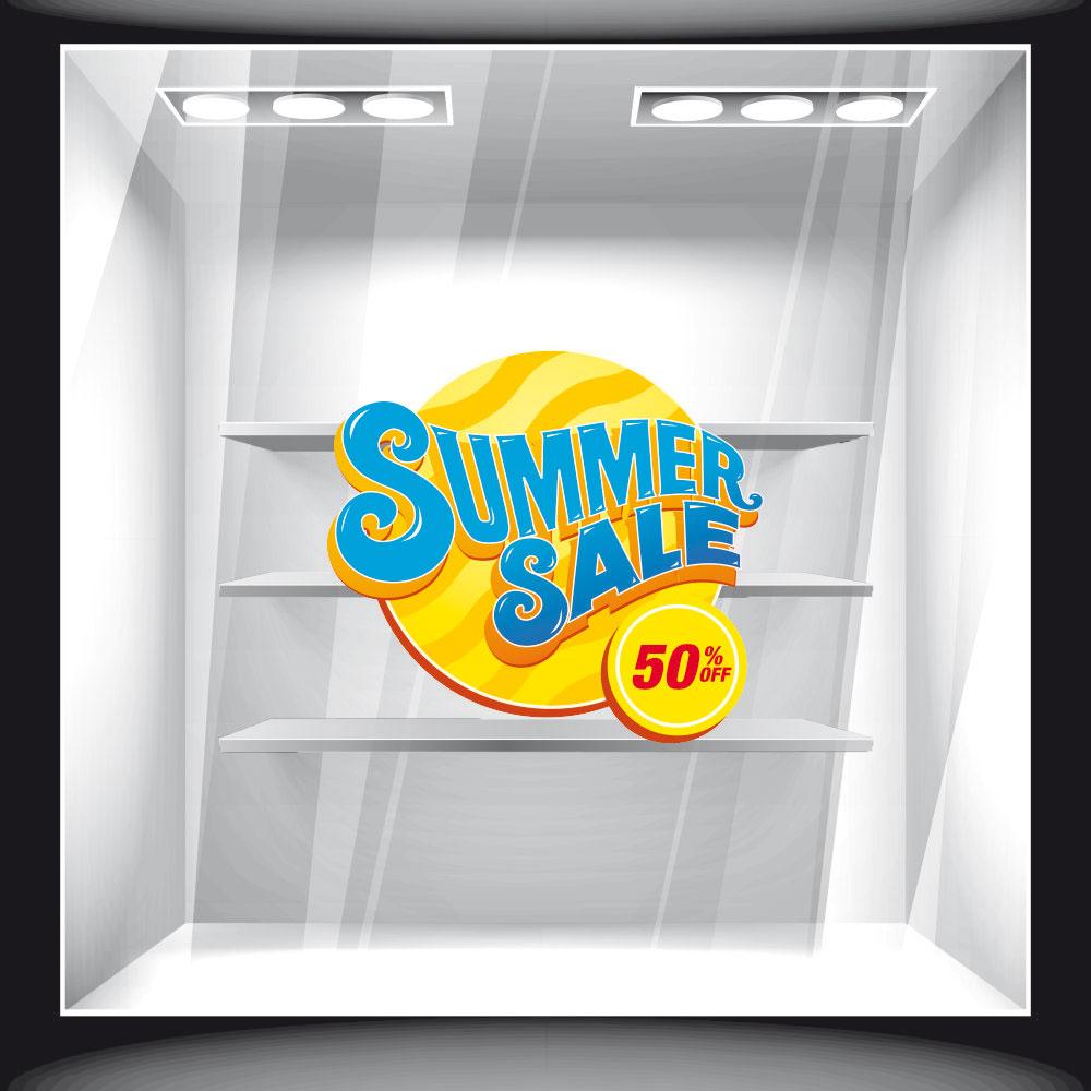 Αυτοκόλλητο εκπτώσεων - Summer Sale 26