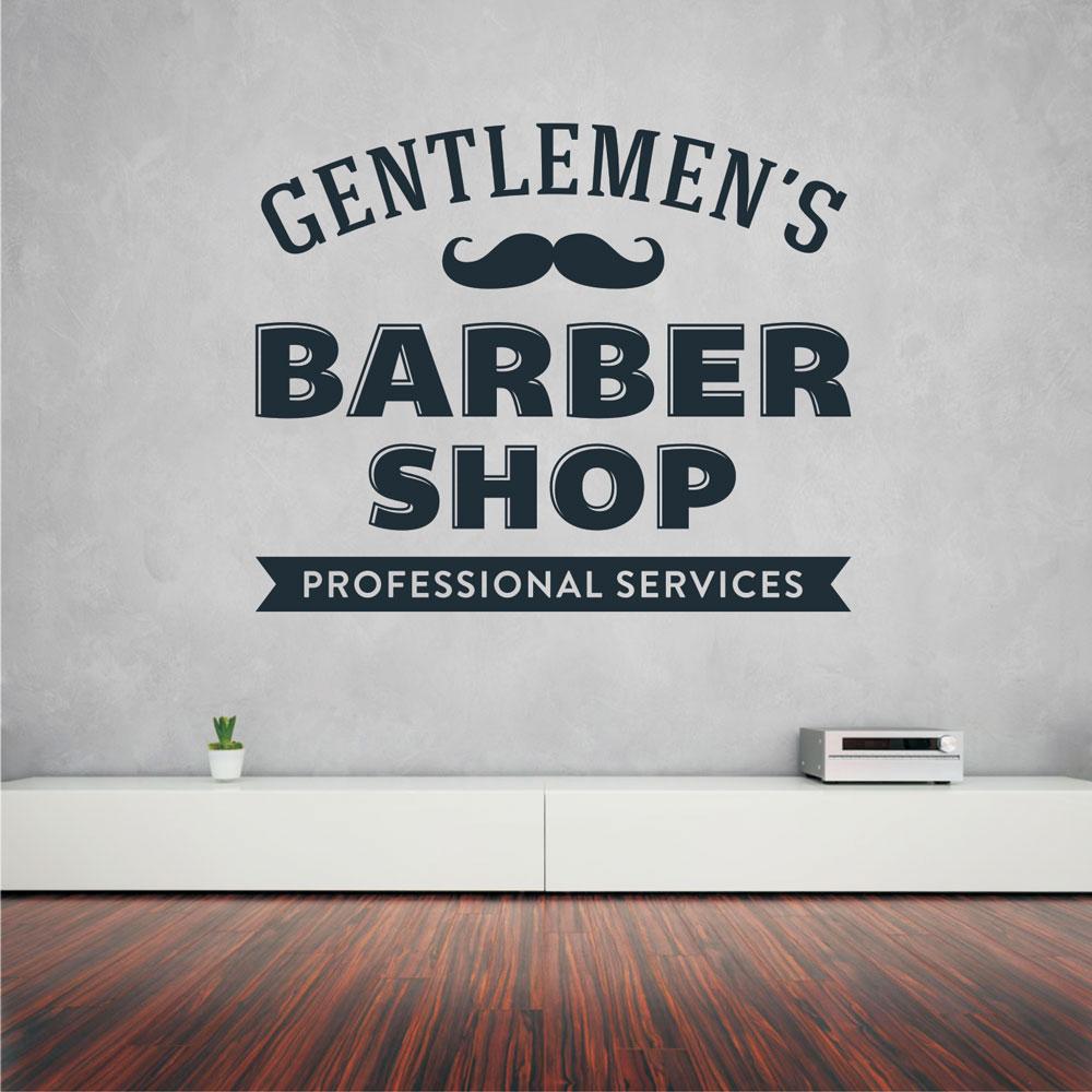 Αυτοκόλλητο τοίχου - Gentlemen's Barber Shop 03