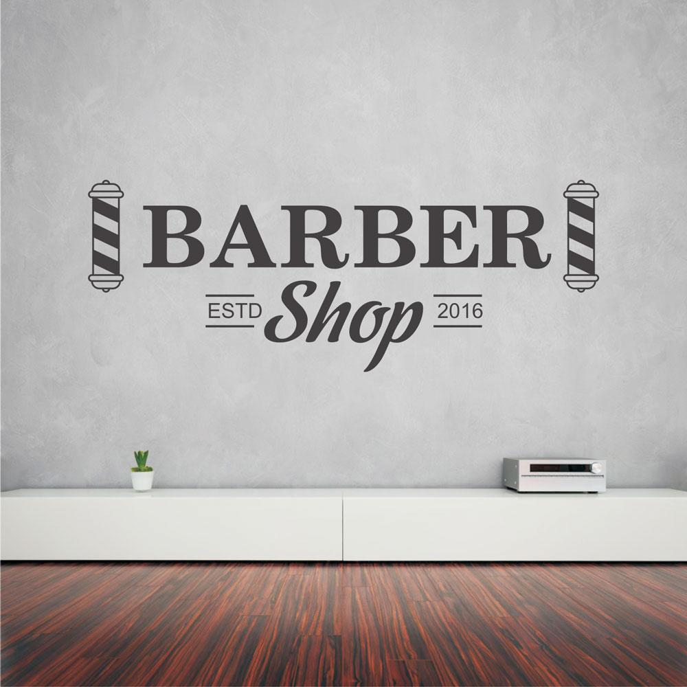 Αυτοκόλλητο τοίχου - Barber Shop 18