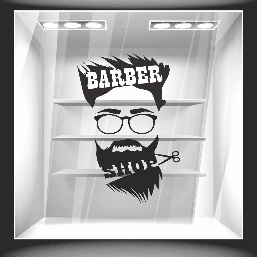 Αυτοκόλλητο βιτρίνας - Barber Shop 2
