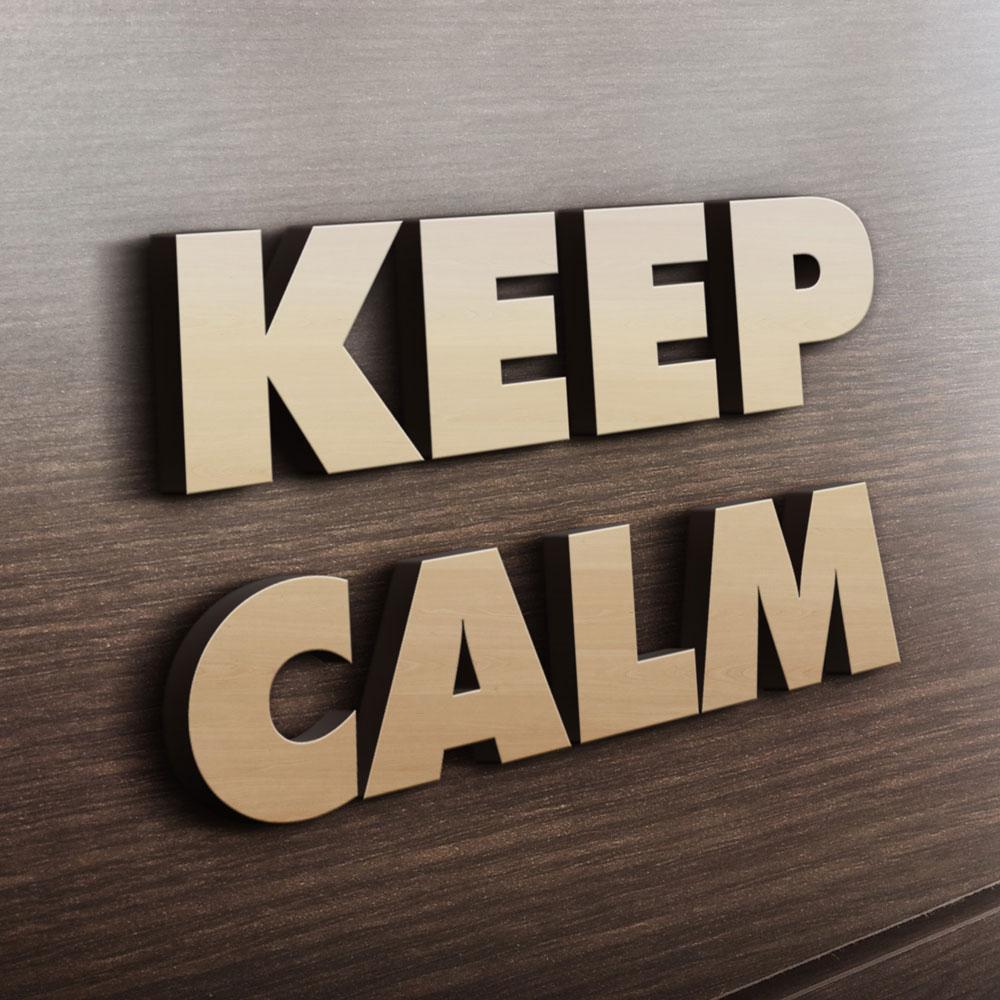 MDF - Ξύλινο σχέδιο - Keep calm