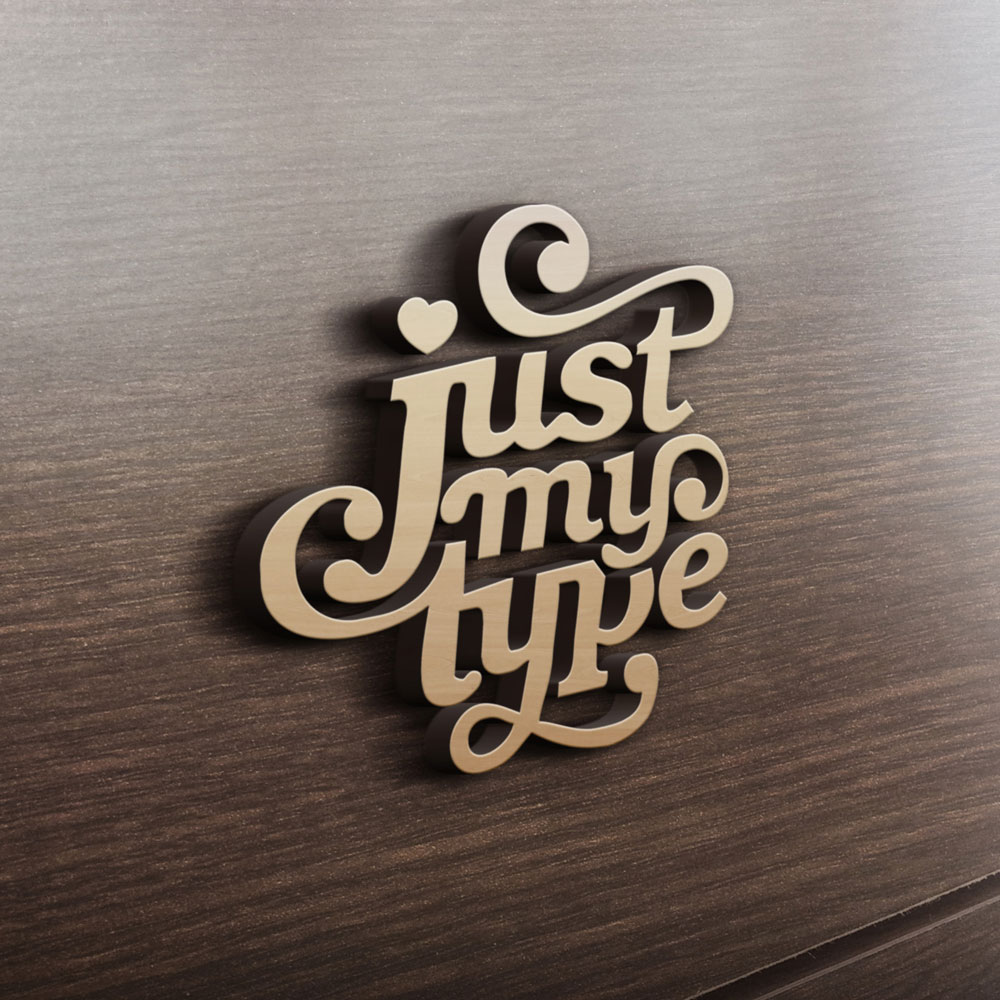MDF - Ξύλινο σχέδιο - Just my type