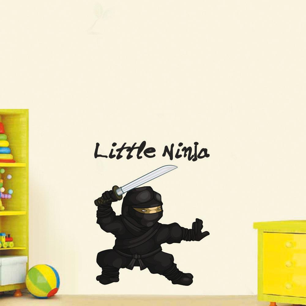 Παιδικό Αυτοκόλλητο Τοίχου - Μικρός Νίντζα