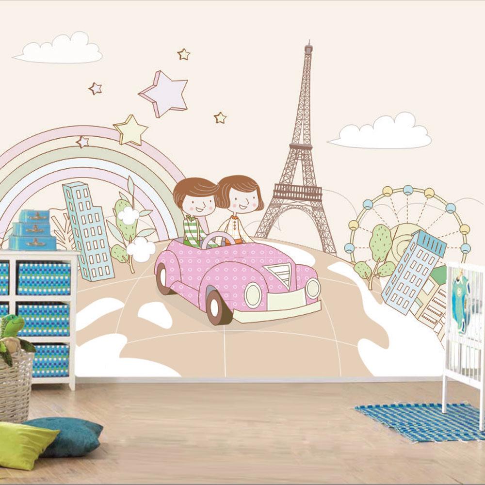 Αυτοκόλλητη ταπετσαρία - Χαρούμενο ταξίδι