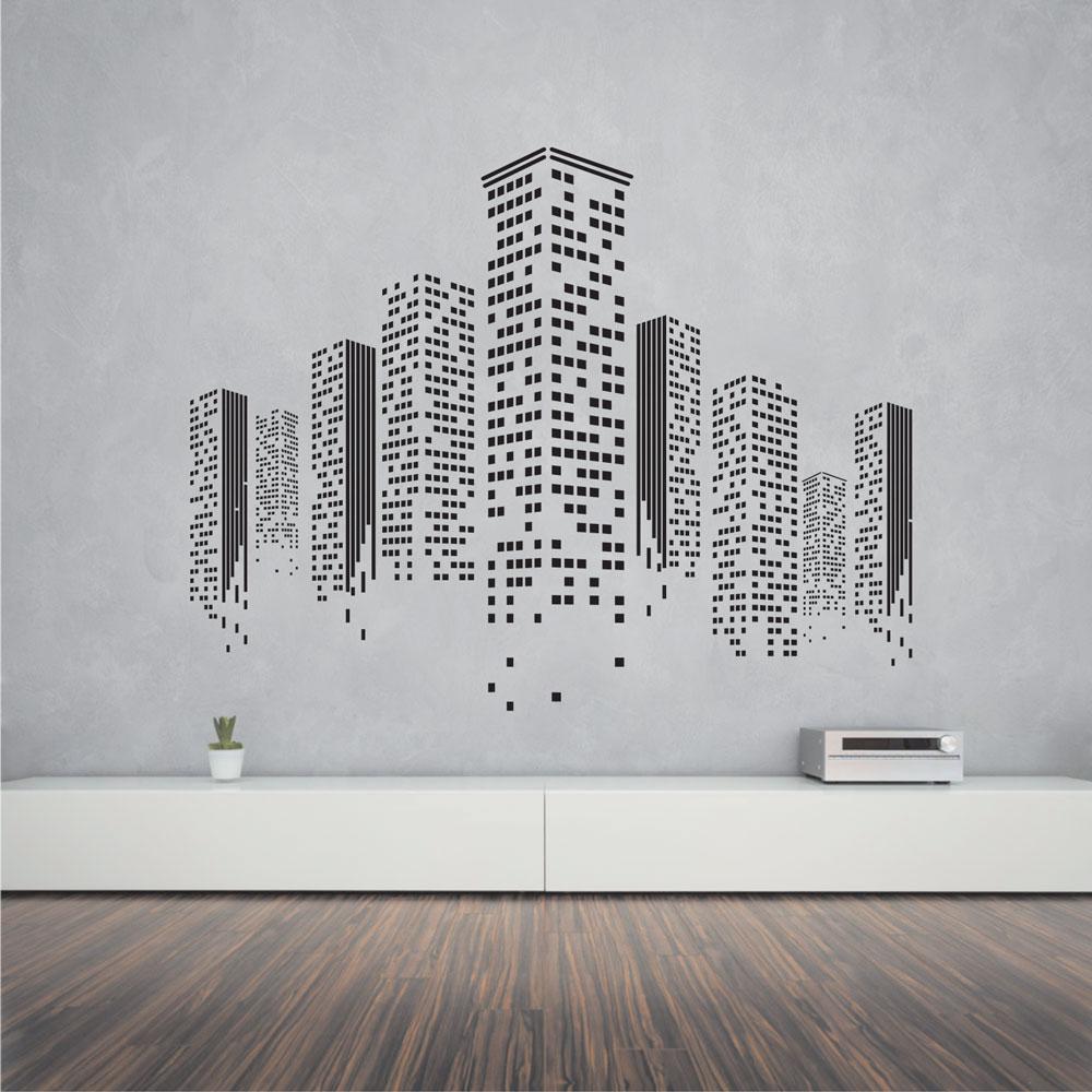 Αυτοκόλλητο τοίχου - Skyline 01