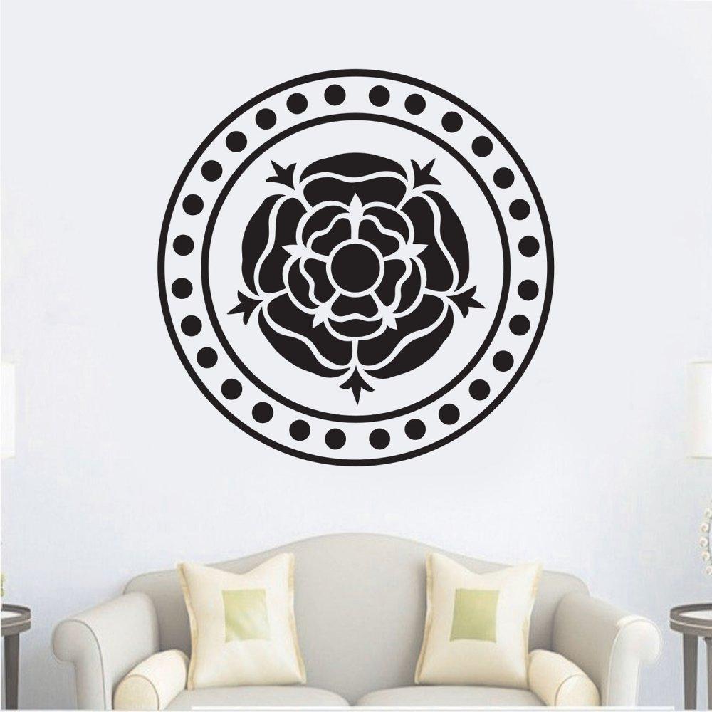 Αυτοκόλλητο Τοίχου - Λουλουδι σε κύκλο