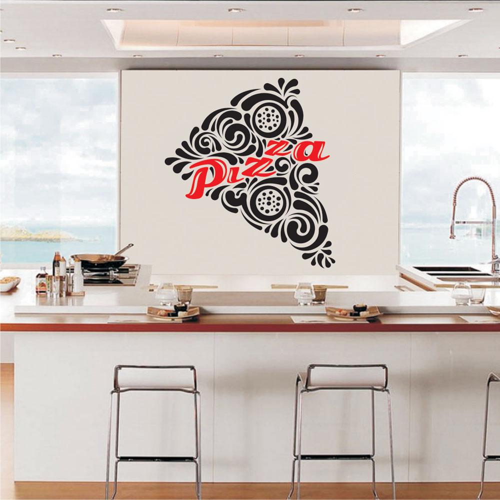 Αυτοκόλλητο Τοίχου - Pizza Κομμάτι