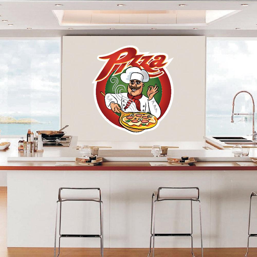Αυτοκόλλητο Τοίχου - Pizza 7
