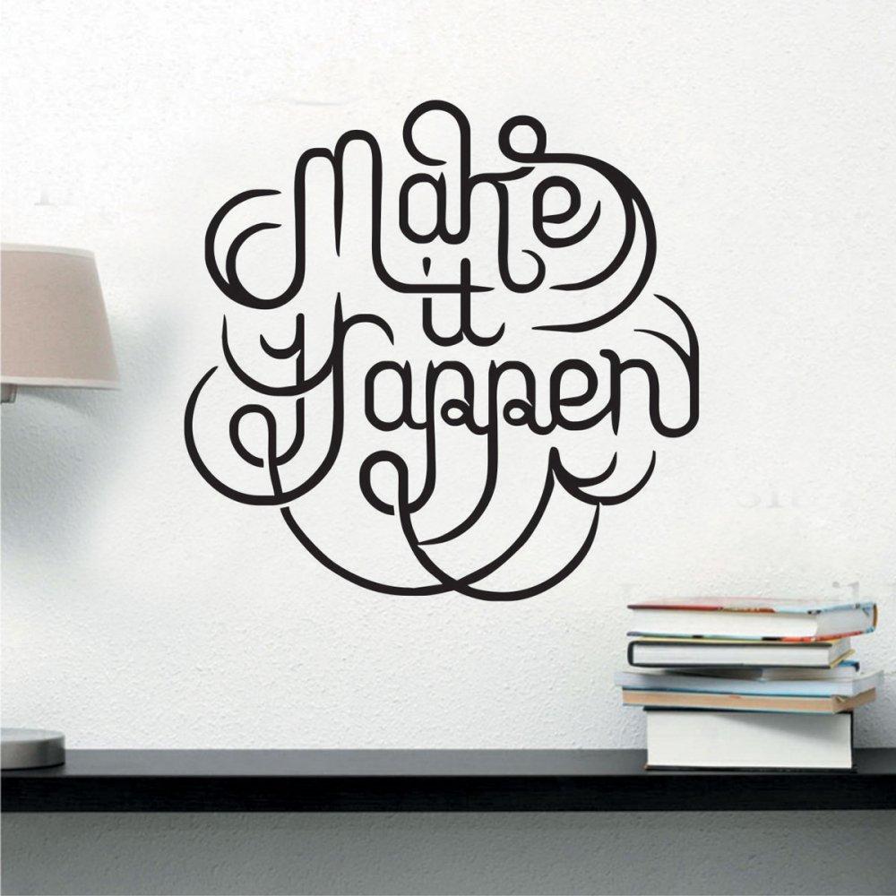 Αυτοκόλλητο τοίχου - Make it happen
