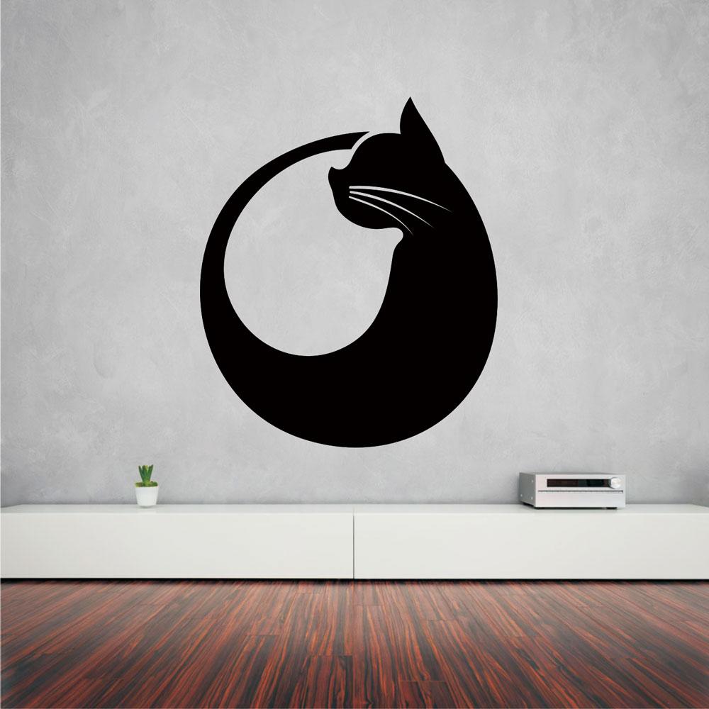 Αυτοκόλλητο τοίχου - Γάτα