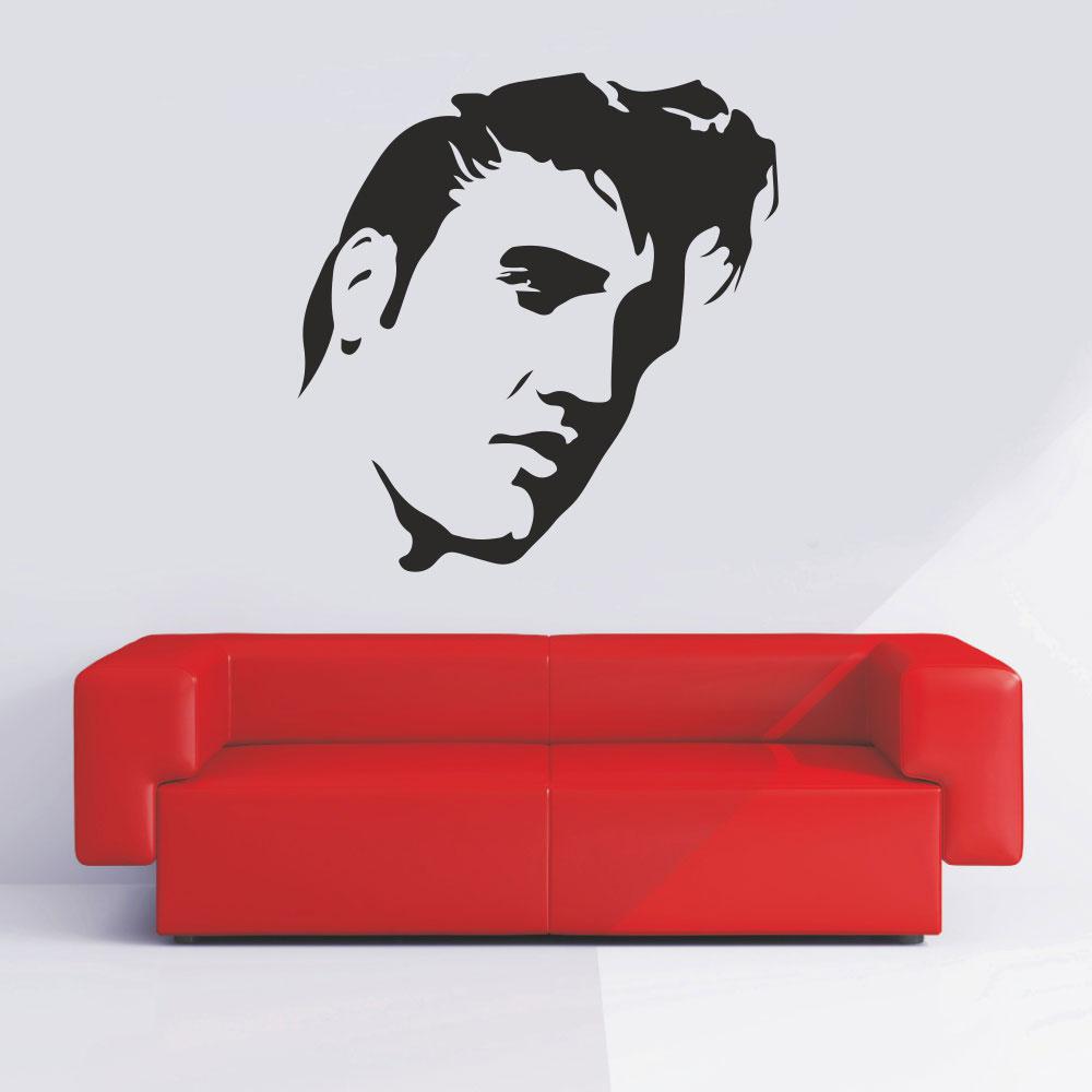 Αυτοκόλλητο Τοίχου - Elvis Presley πρόσωπο