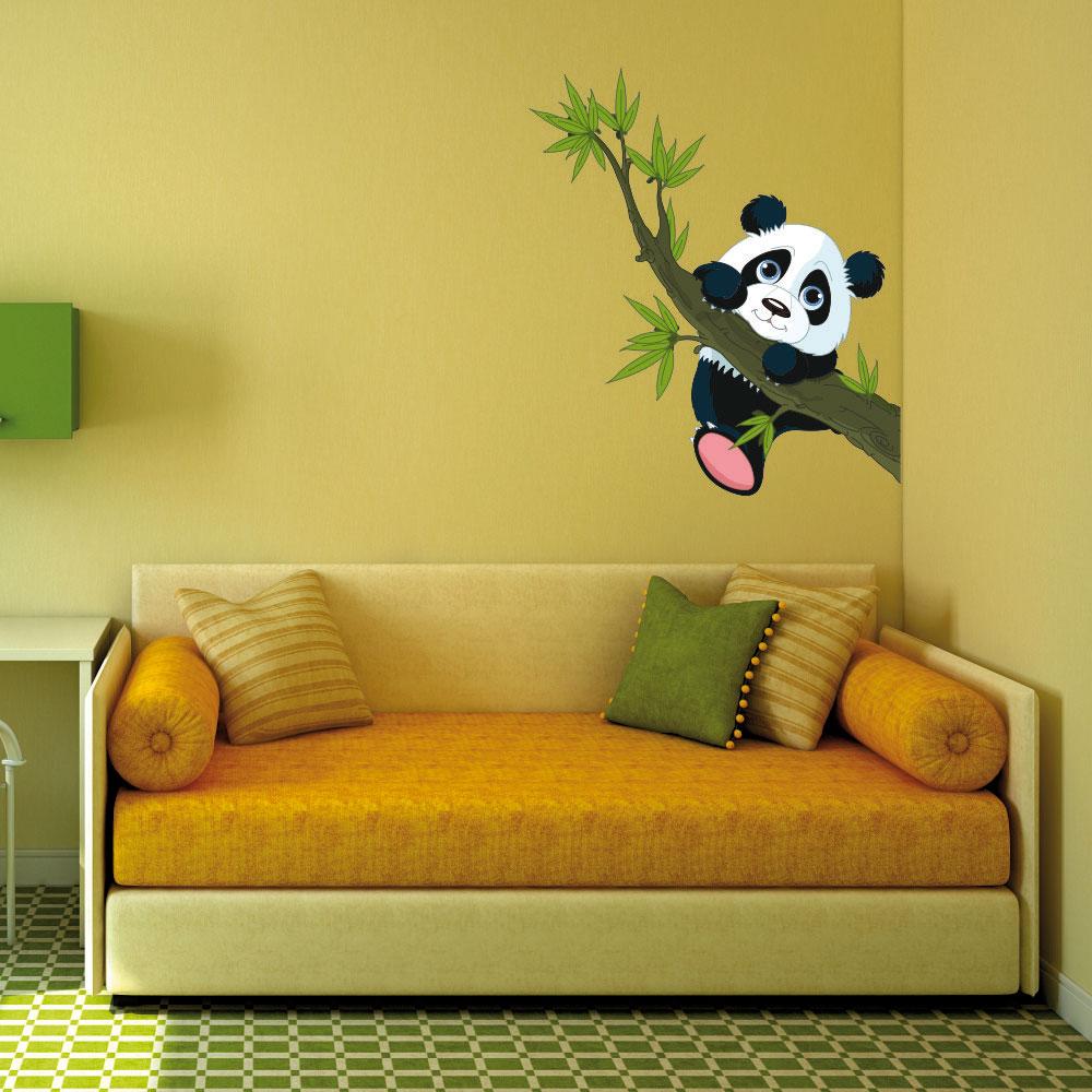 Παιδικό Αυτοκόλλητο Τοίχου - Happy Panda