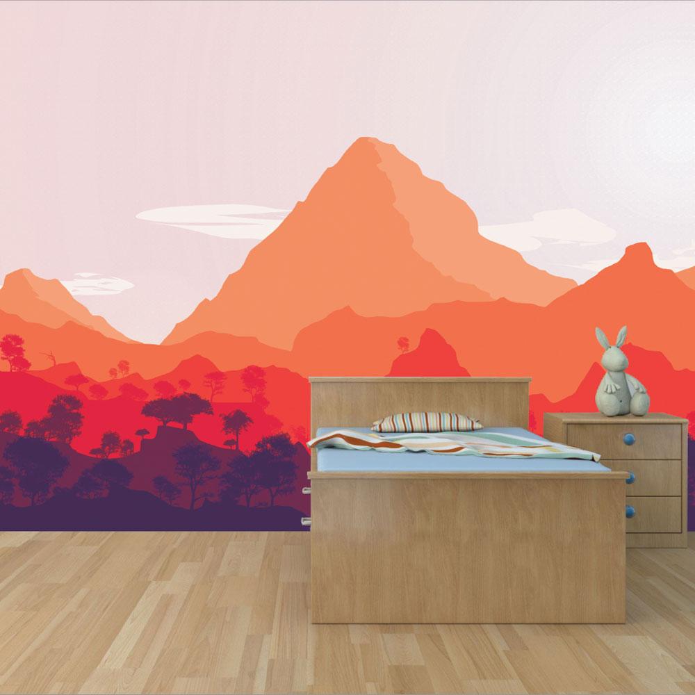 Αυτοκόλλητη Ταπετσαρία - Χρωματιστά βουνά