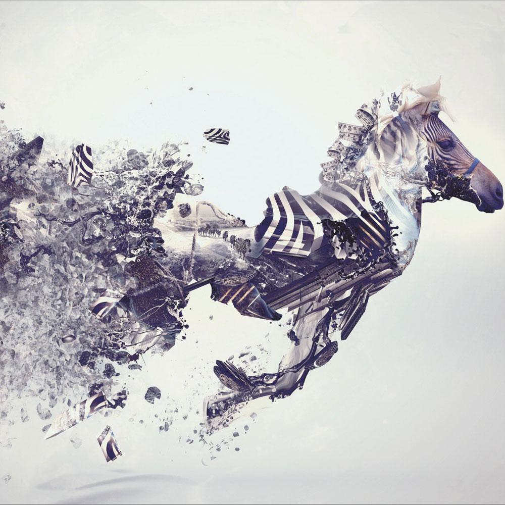 Αυτοκόλλητη Ταπετσαρία - Τρεχούμενο άλογο