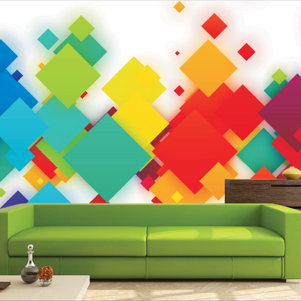 Αυτοκόλλητη Ταπετσαρία - Colorful Squares