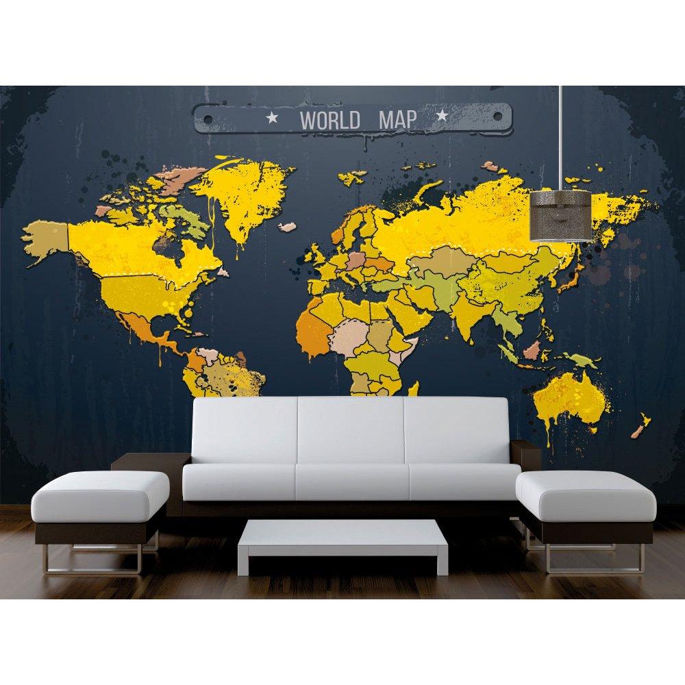 Αυτοκόλλητη Ταπετσαρία - Παγκόσμιος Χάρτης