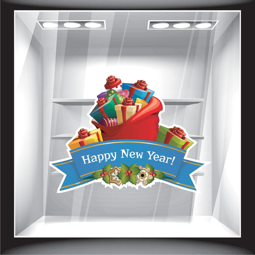 Χριστουγεννιάτικο Αυτοκόλλητο - Happy New Year Gifts