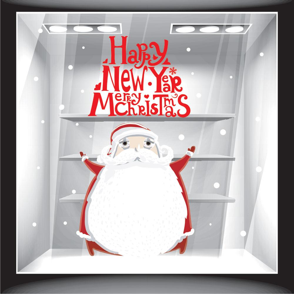 Χριστουγεννιάτικο Αυτοκόλλητο - Άγιος Βασίλης 2