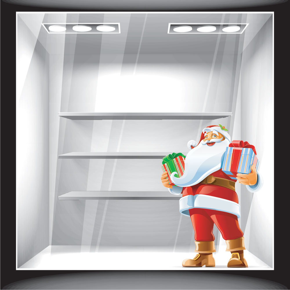 Χριστουγεννιάτικο Αυτοκόλλητο - Άγιος Βασίλης 4