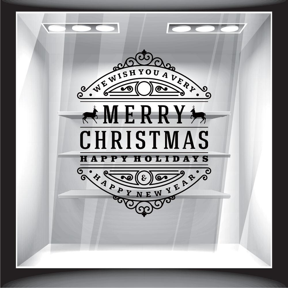 Χριστουγεννιάτικο Αυτοκόλλητο - Merry Christmas 12