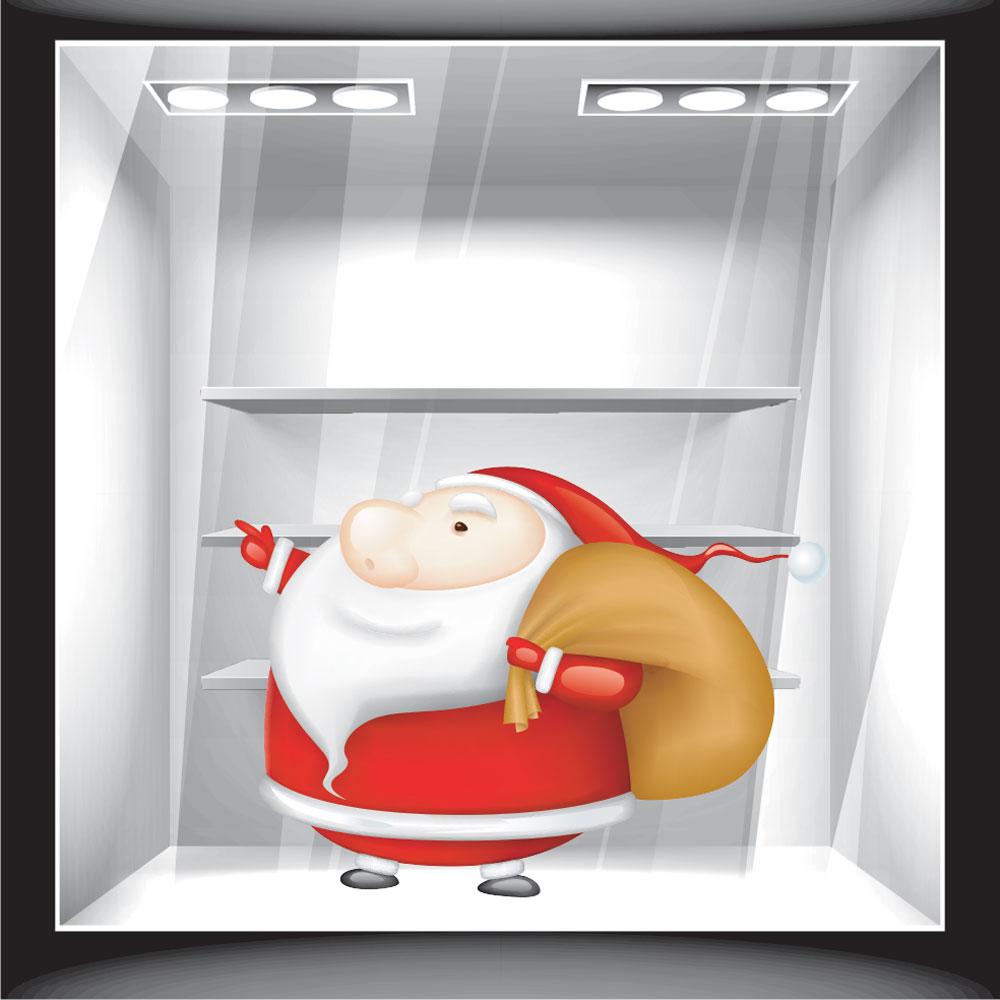 Χριστουγεννιάτικο Αυτοκόλλητο - Άγιος Βασίλης 7