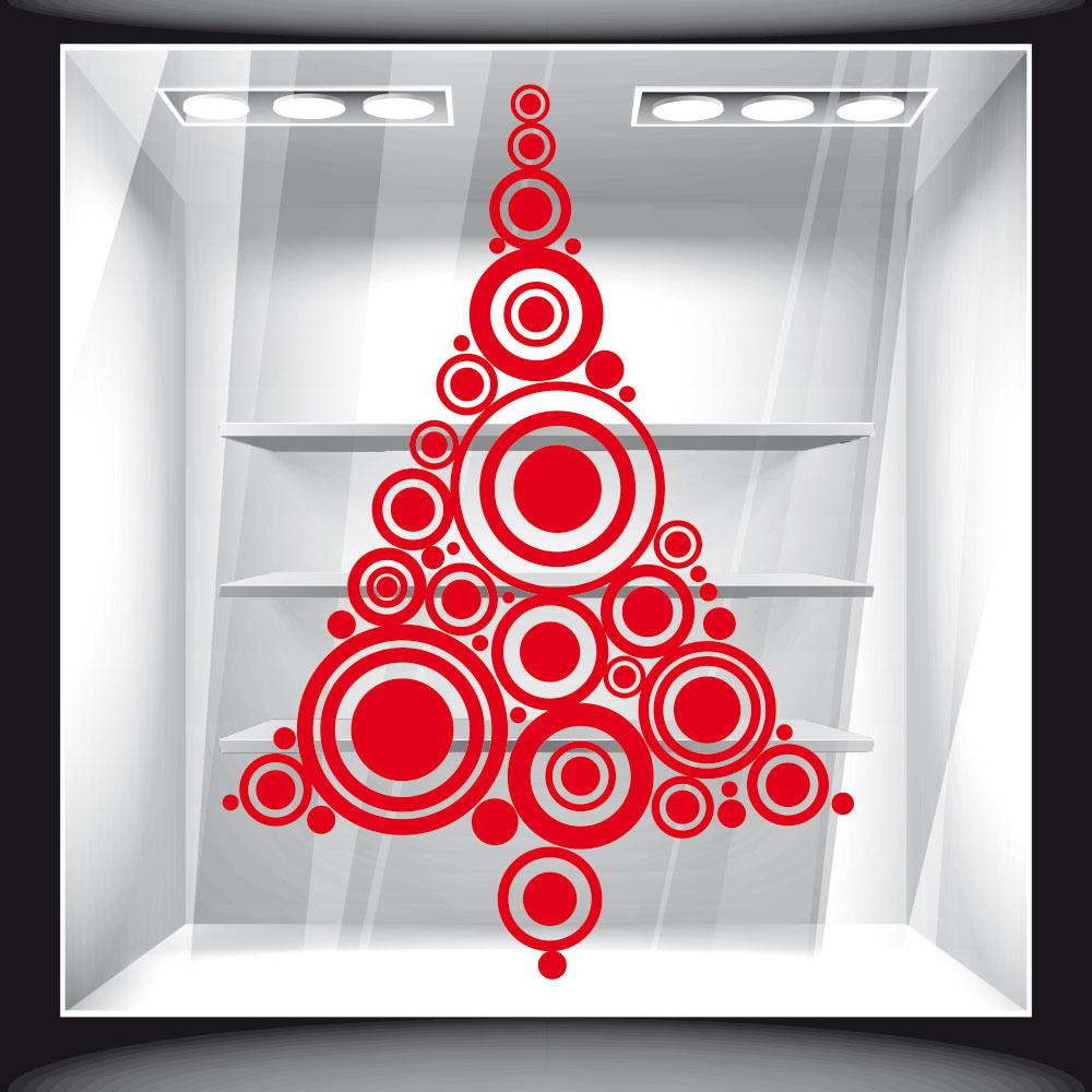 Χριστουγεννιάτικο Αυτοκόλλητο - Έλατο από Κύκλους