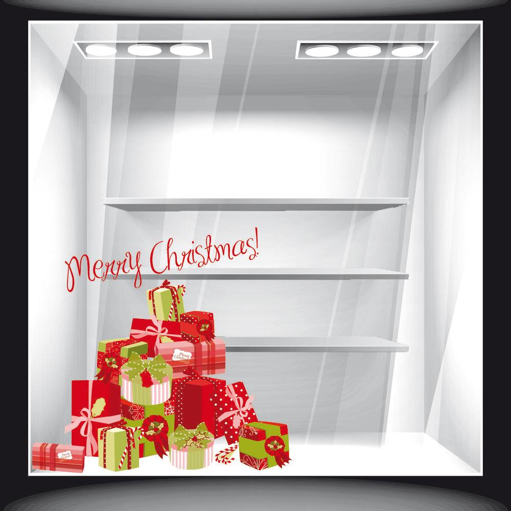 Χριστουγεννιάτικο Αυτοκόλλητο - Δώρα 01