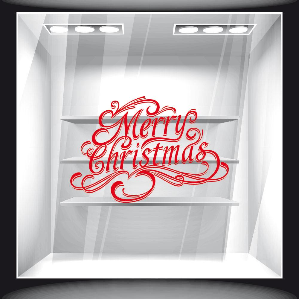 Αυτοκόλλητο Βιτρίνας - Χριστουγεννιάτικο 84